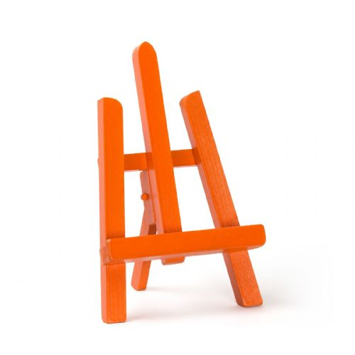 "Orange Colour Easel Essex 11"" - Beech Wood"